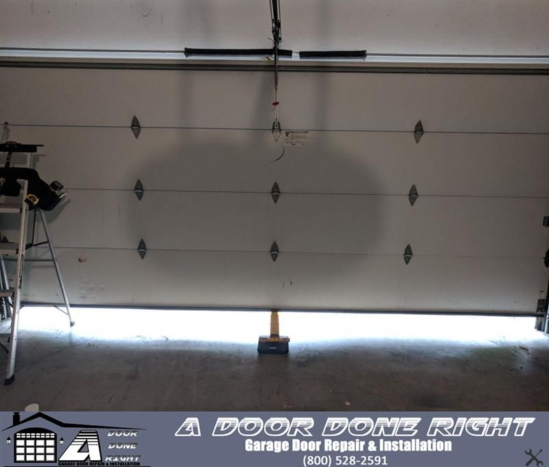 Any garage company can change the springs on a garage door