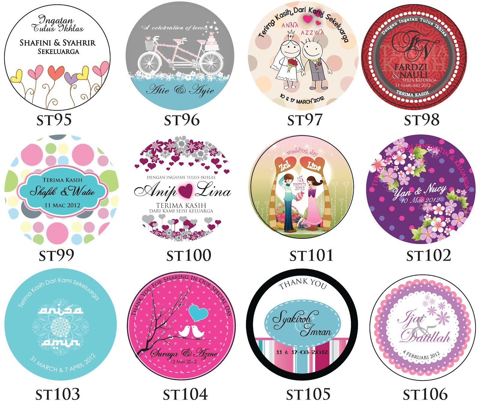 Ceria Kad Kahwin New Sticker 2012 Sticker Design Kad Kahwin Design New Sticker