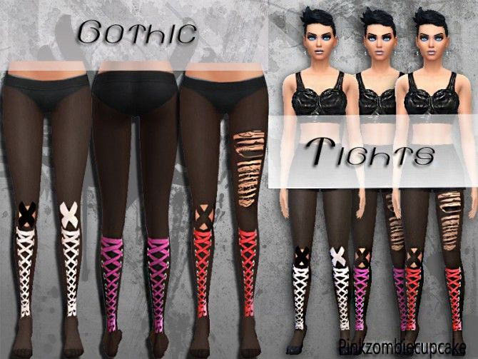 Gothic Tights at Pink Zombie Cupcake via Sims 4 Updates
