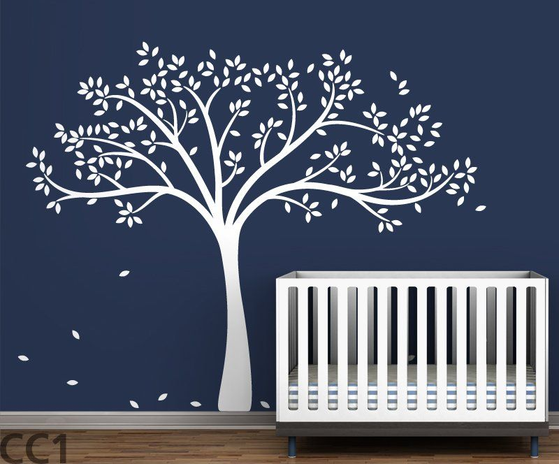 Trees Monochromatic Fall Wall Decal Baby Nursery Wall Decor Tree Wall Decal Tree Wall Stickers
