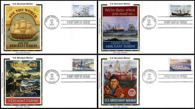 4548 4551 / 44c U.S. Merchant Marines Set of 4 Colorano