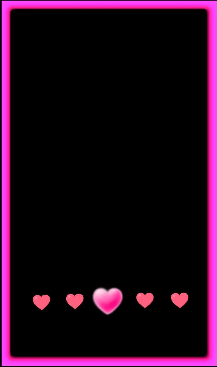 Black And Pink Heart Wallpaper Framed Wallpaper Flowery Wallpaper