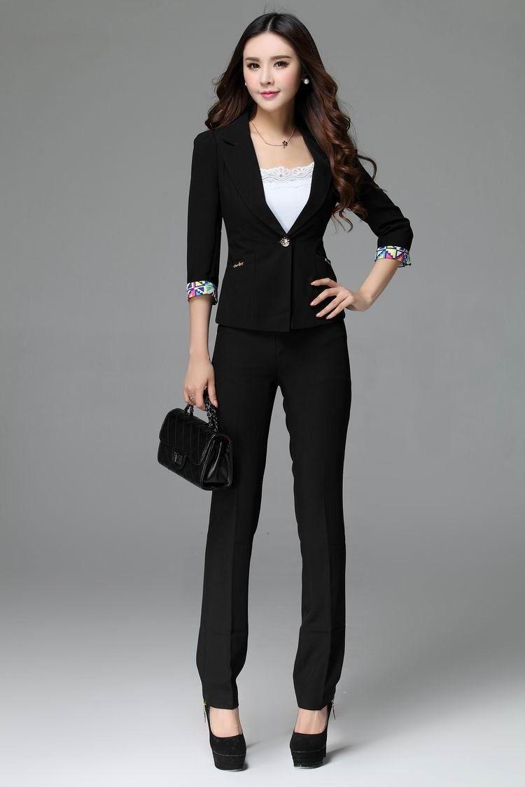 Aliexpress.com : Buy Autumn 2014 Business Women Suit with Pants ...