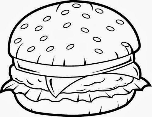 Image Result For Burger Outline Art Journal Inspiration Burger Clip Art