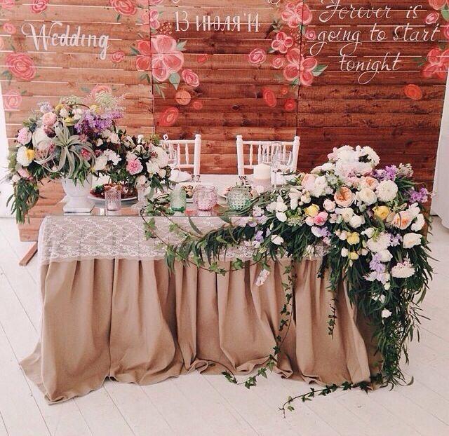 Ideas para decorar la mesa principal de xv años Sweetheart table