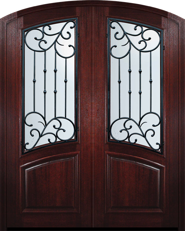 36 X 96 Double Arch Top Catalina Mahogany Door Mahogany Entry Doors Mahogany Doors Double Doors Exterior