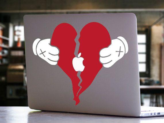 Kanye West 808 39 S Heartbreak Inspired Macbook Decal Yeezy Yeezus Ye Rapper Music Artist Album Cove Laptop Vinyl Decal Macbook Decal Vinyl Decal Stickers