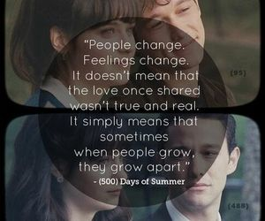 We Grew Apart 500 Days Of Summer 500 Days Of Summer Quotes