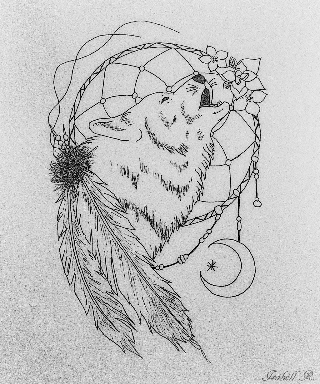 Zentangle Wolf Drawing Pesquisa Do Google Dream Catcher Coloring Pages Coloring Pages Dream Catcher Drawing