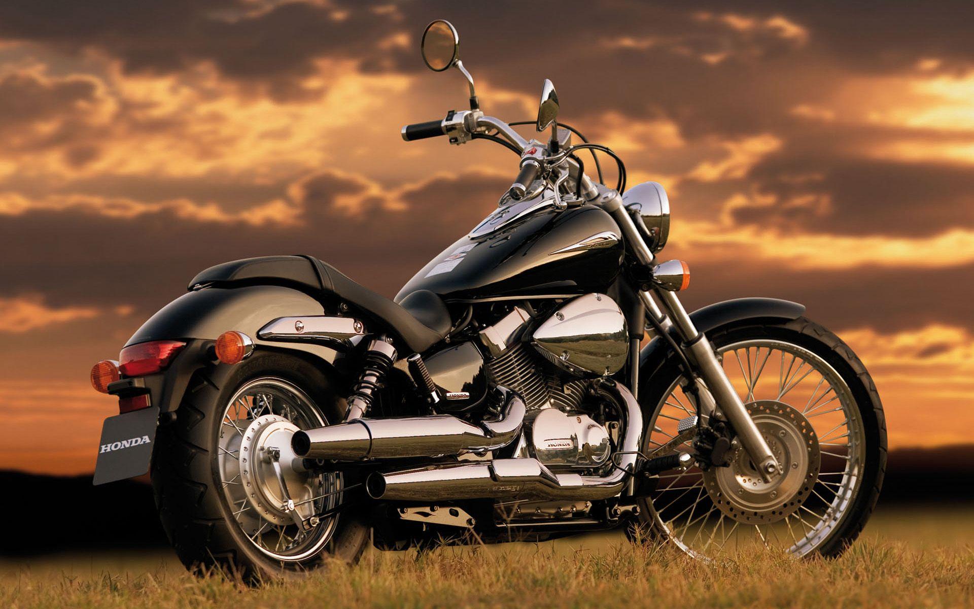 Honda Shadow Motorcycles Wallpaper Widescreen Wallpaper