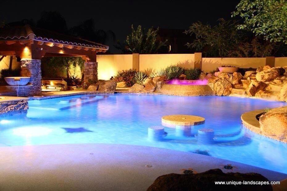 Super nice backyard (With images) | Luxury pools, Backyard ... on Backyard Pool Bar Designs  id=79425