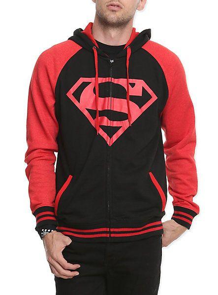 DC Comics Superboy Raglan Hoodie | Hot Topic | Superman | Pinterest | Hot  topic, Comic and Hoodie