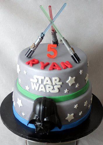 Star Wars Cake Fondant Cake Light Saber Cake Darth Vader Cake