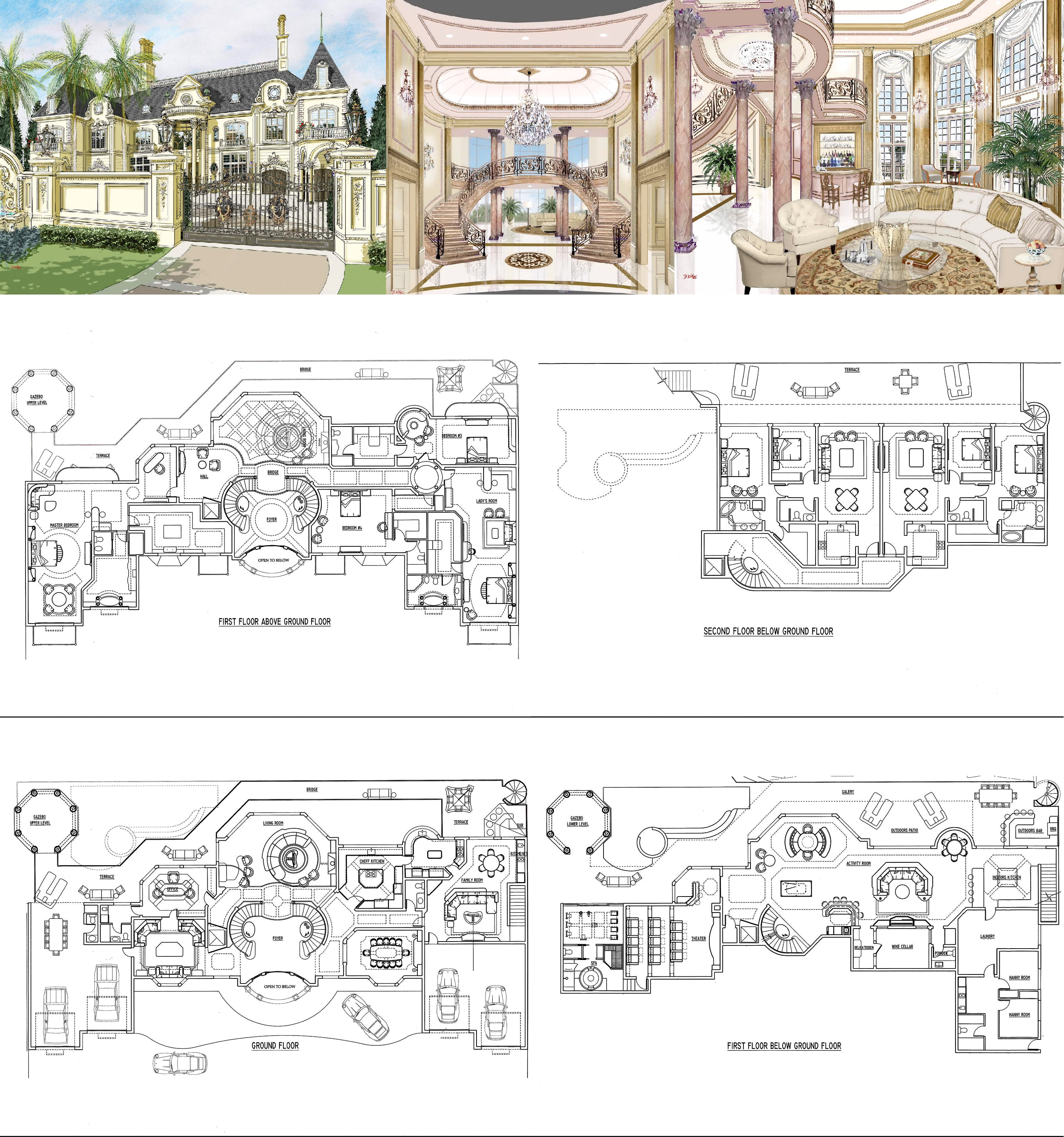 The Abuja French Chateau Nigeria Africa Mansion Floor Plan Luxury Floor Plans Castle House Plans