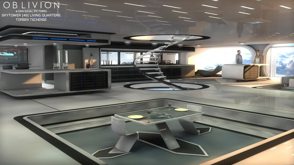 futuristic home interior oblivion skytower 49 living quarters by blackcubestudios 11841