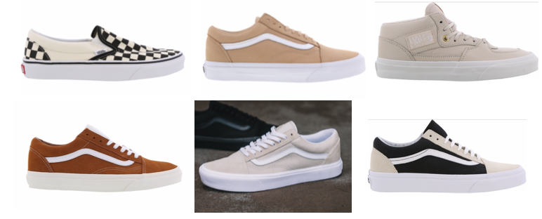 foot locker beige vans