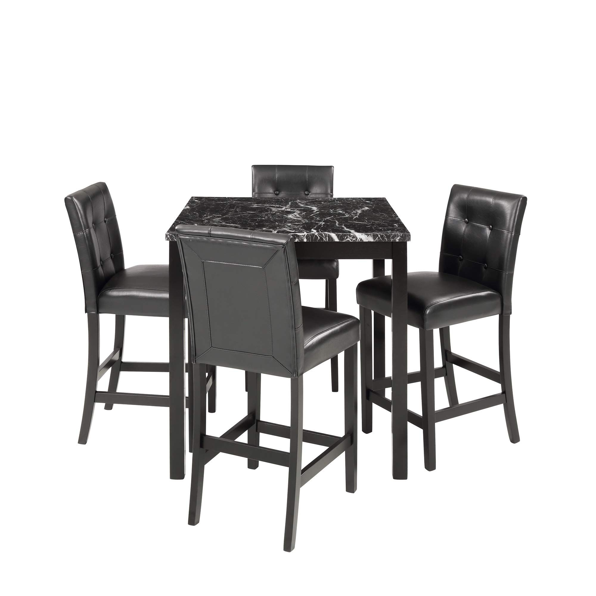 5 Piece Counter Height Dining Set Kitchen Table Furniture Set With 4 Chairs Dining Room Table Counter Height Dining Sets Nook Dining Set Dining Room Table Set