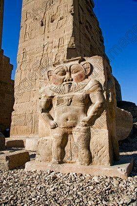 Dios Bes en el templo de Dendera
