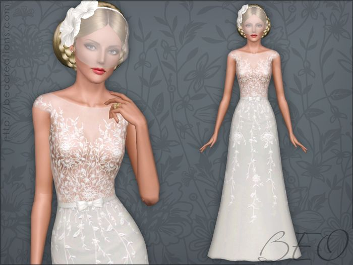 Wedding Dress 34 For The Sims 3 By Beo Sims 3 Wedding Dresses