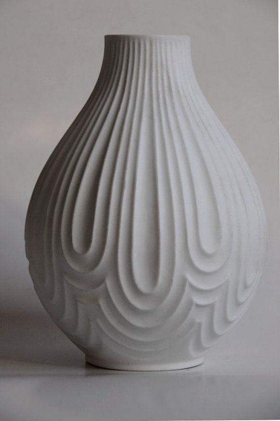 Vintage Bisque Vase Heinrich Ceramic Texture Ceramics Clay Pottery