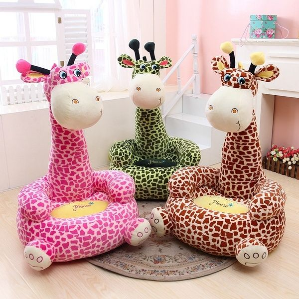 Wish | Cute Cartoon Child Beanbag Frog Giraffe Sofa Toy Dog Monkey Seat Bean Bag Chairs (FIT FOR 0-2 years old)