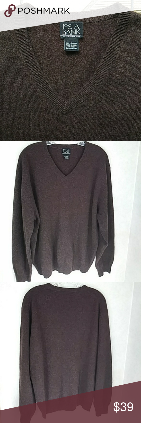 100% Cashmere Sweater - Brown - Size L | Cashmere sweaters ...