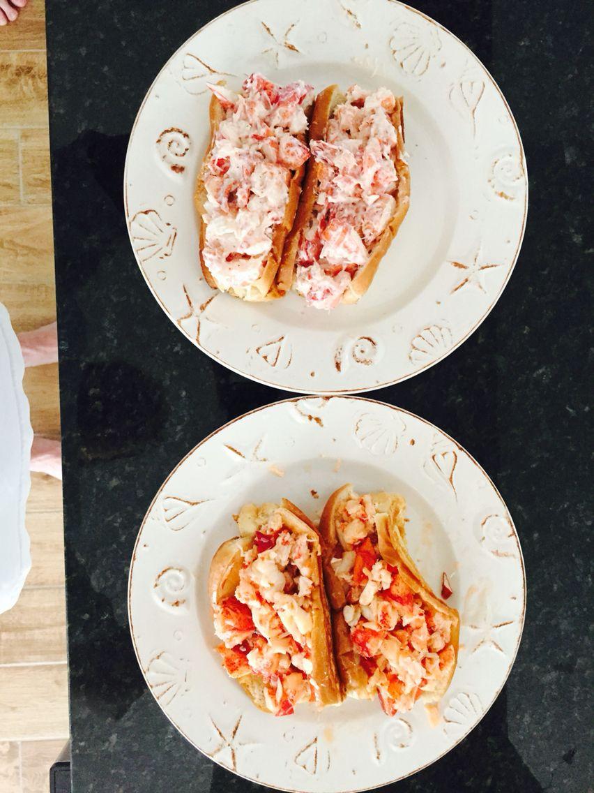 Homemade lobster rolls done two ways! YUMMMMMMMM