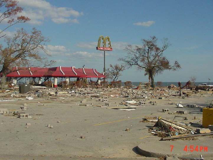 Mc Donald S In Biloxi After Hurricane Katrina Hurricane Katrina Hurricane Camille Katrina