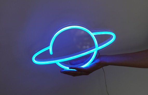 Planet LED Neon Sign. Choose your color #ledtechnology