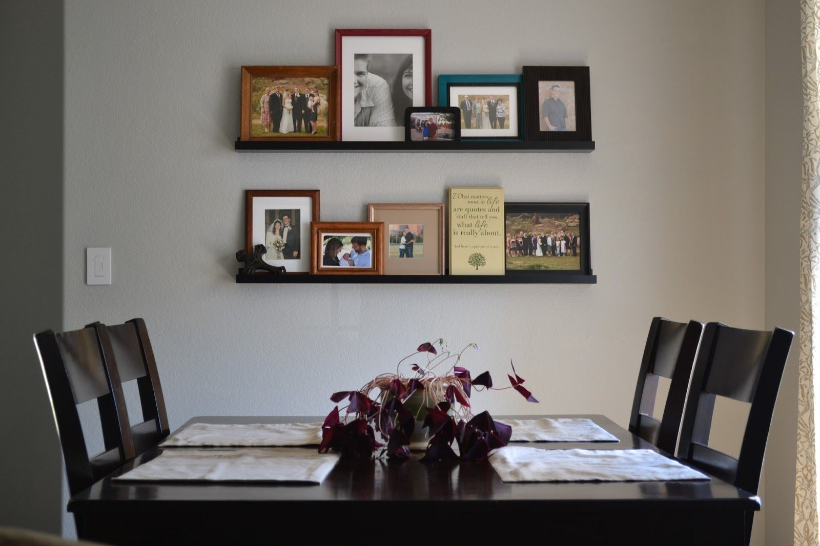 Dining Room Picture Ledges