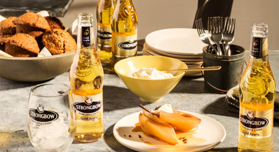 Strongbow Gold Apple Poached Pears Recipe Fruit