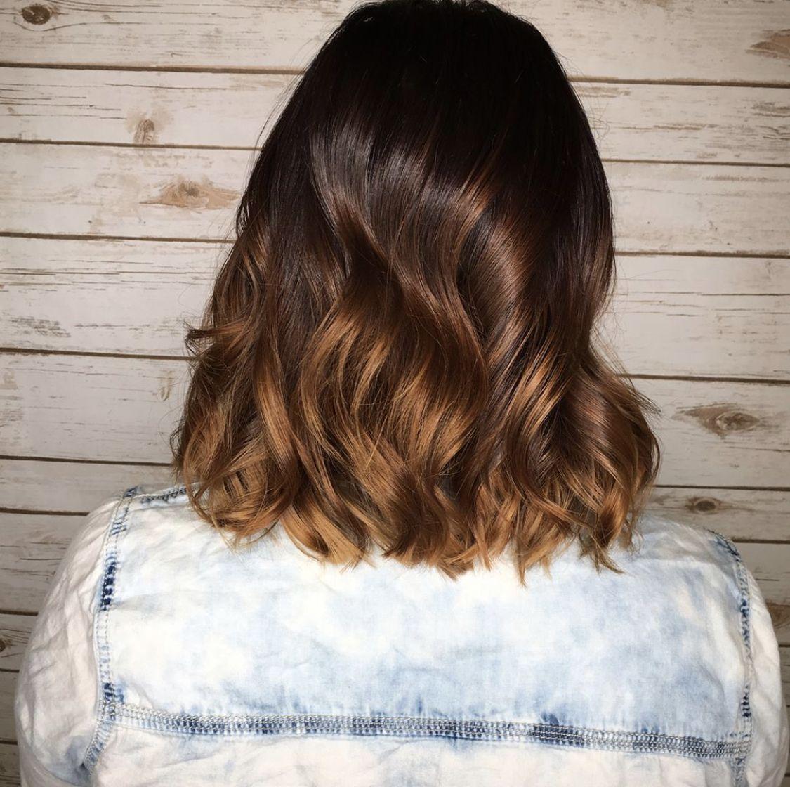 Caramelbrunette Brunettelob Brunette Lob Long Hair Styles Hair Styles