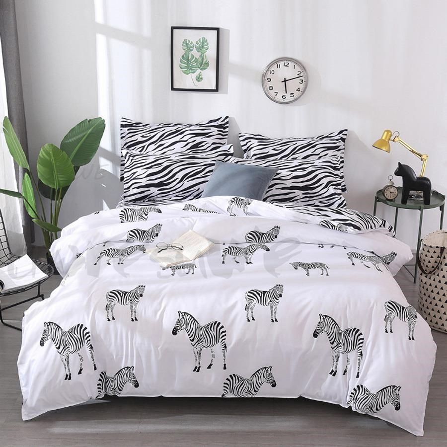 Bedding Cartoon Cute Animal 3d Embroidery Duvet Cover Set Bedlinens High Quality Thick Sanding Cotton Queen King Size Bedding Sheets At All Costs Home Textile