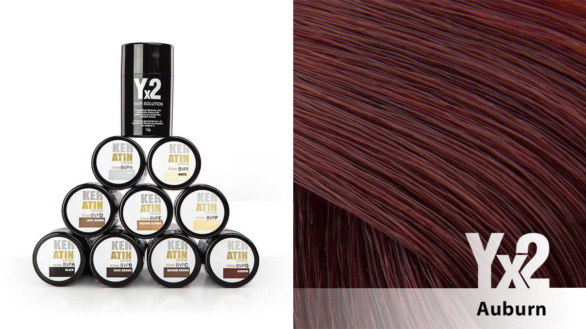 Yx2-hiustuuhennetta on saatavana 9 eri värisävyä, kuten tämä monelle suomalaiselle ominainen kastanjanruskea sävy (Auburn). Voit käyttää myös eri sävy-yhdistelmiä, jolloin löydät tarvittaessa juuri oikean sävyn. Yx2-tuotteet löydät: http://www.yx2.fi/kauppa #yx2 #hiustuuhenne #sävy #color #auburn #kastanjanruskea