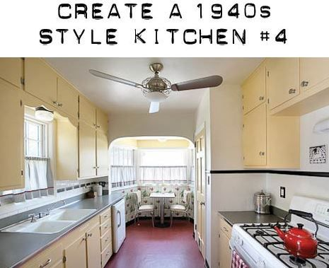 Today U2014 Our Fourth Design Board To Create A 1940s Style Kitchen. This One  Uses