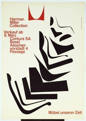 MoMA | The Collection | Armin Hofmann. Herman Miller Collection, Möbel unserer Zeit. 1962 — Designspiration