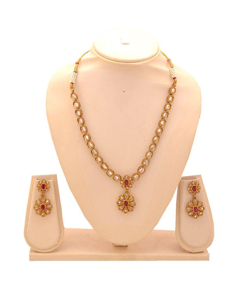 Alyzapearls golden german silver necklace set jewellry pinterest