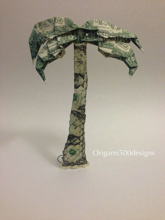 One Beautiful Handcrafted Money Origami PALM TREE On Etsy 1500