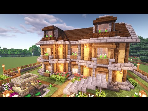 Photo of Minecraft: How to Build a Large Wooden Oak House (Tutorial)