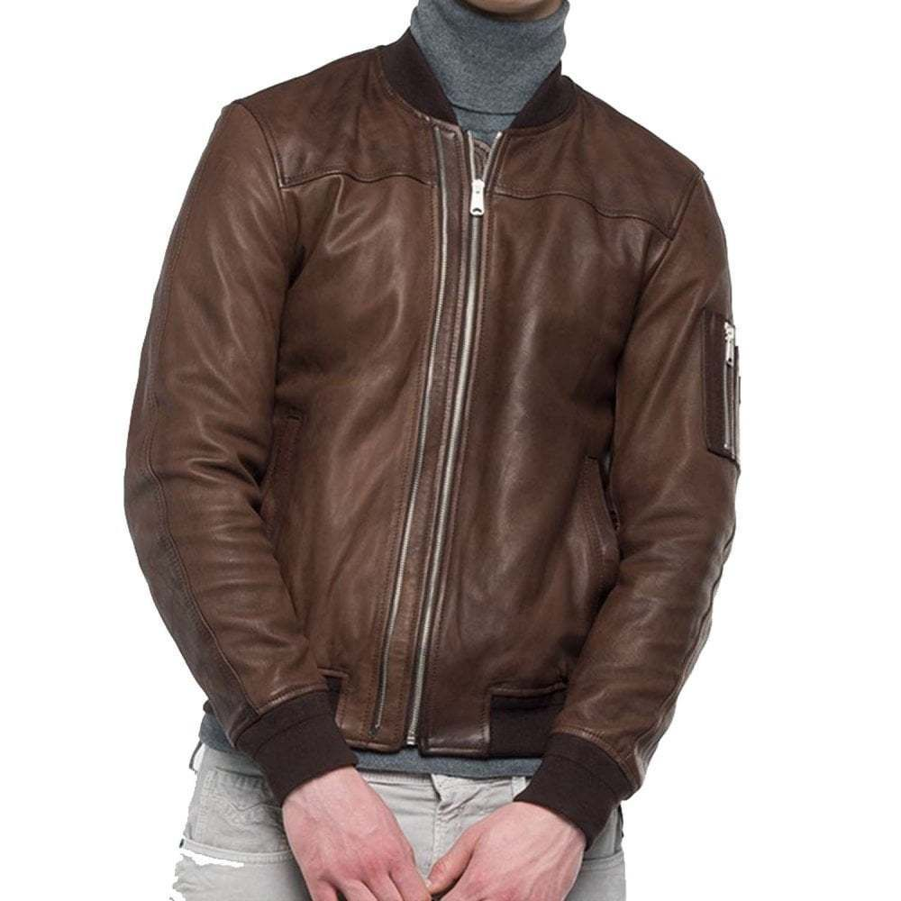 Ebay Sponsored Replay Leather Double Zip Bomber Jacket Bomber Jacket Jackets Mens Outfits [ 1000 x 1000 Pixel ]