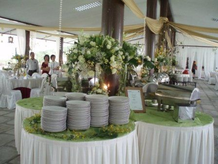 I Like This Idea Of Using Round Tables To Create A Buffet Standard Are Boring