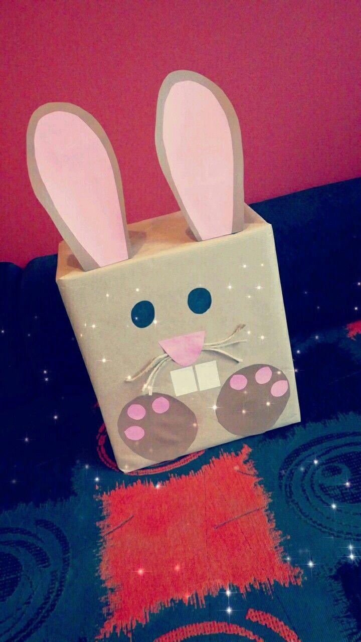 Prezent Dla Dziecka Na Wielkanoc Kroliczek Pakowanie Prezentow Gifts Diy Easter