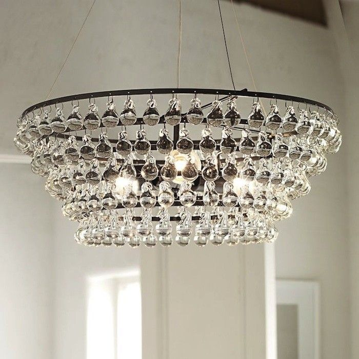Solid Glass Orb Ceiling Light | White company, Orb chandelier and ...