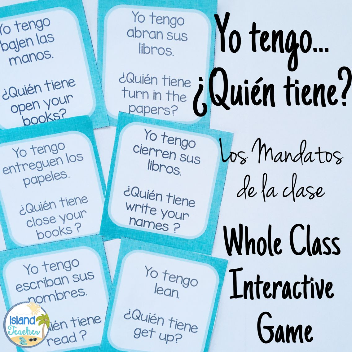 Practice Spanish Classroom Commands With This Whole Class