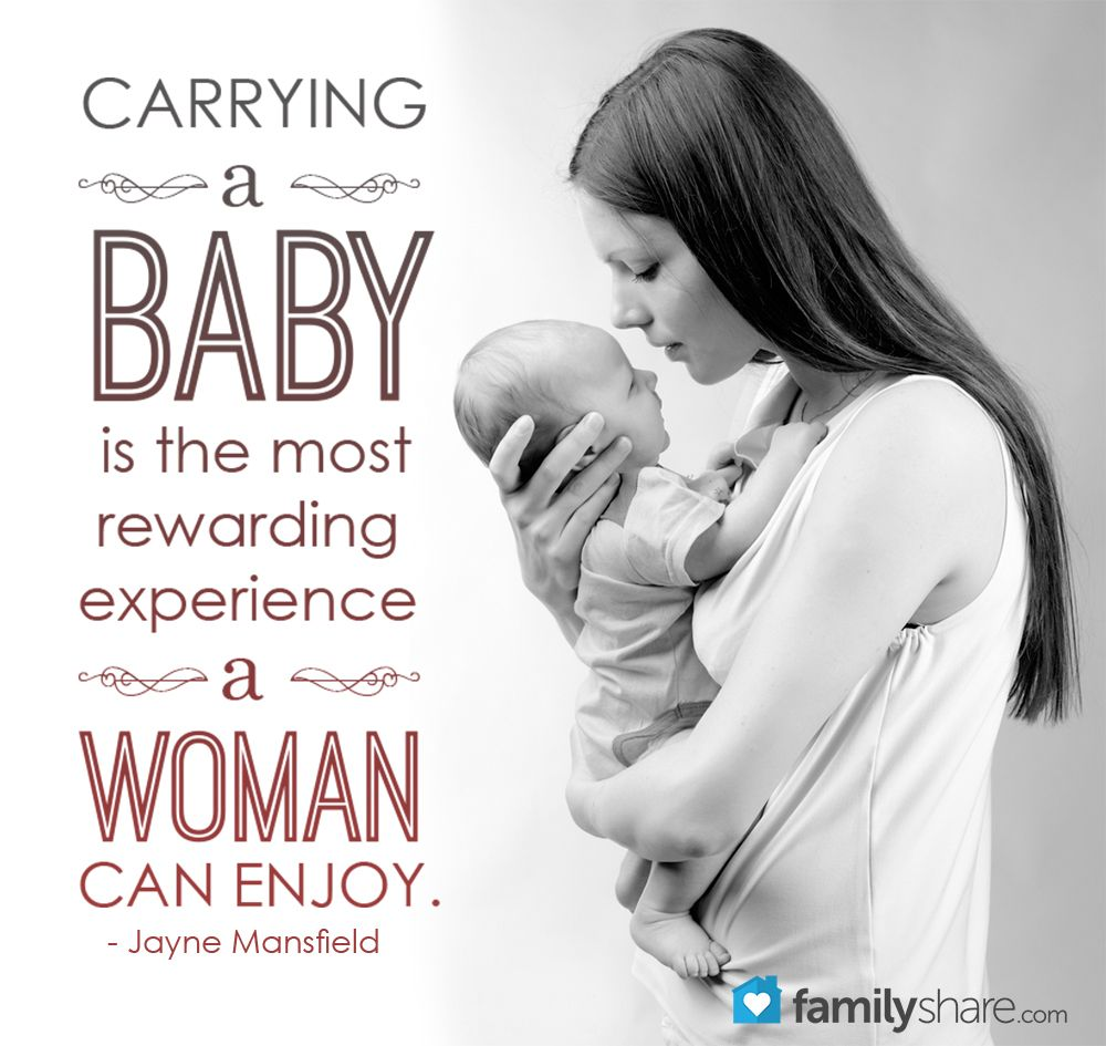 carrying a baby is the most rewarding experience a woman can enjoy jayne mansfield