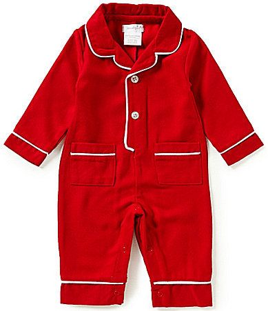 6fcfaa86c919 Mud Pie Baby Boys Newborn-9 Months Christmas Flannel Pajama Coverall ...