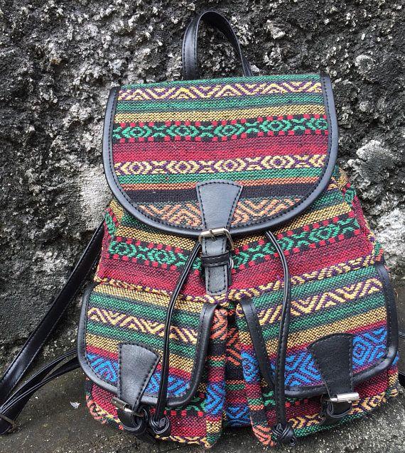 Ethnic Hobo Hippie Bohemian Aztec Style with Zip /& Pockets Over Shoulder Bag Large Womens Rucksack School Bag Backpack for Women Large Backpack Ladies Travel bag Multi Colour Bag
