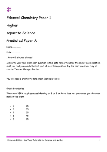 Sample exam papers chemistry edexcel paper 1 combined and separate sample exam papers chemistry edexcel paper 1 combined and separate 9 1 urtaz Images