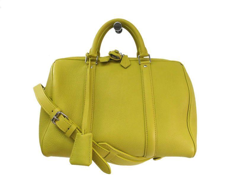 8f4e3731a32a LOUIS  VUITTON SC Bag PM Hand bag Leather Pistache M94298 (BF095346). All