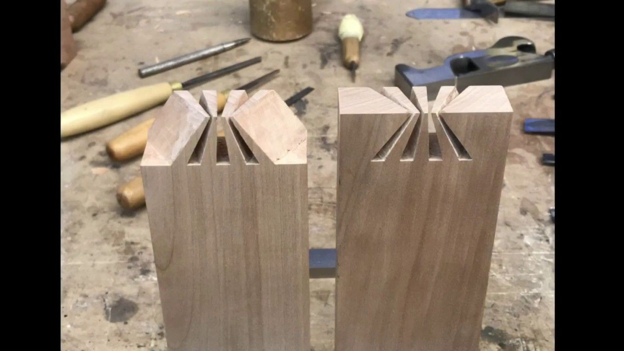 a956797a2fec Impossible dovetail joint revealed. Japanese joinery. Wood art ...